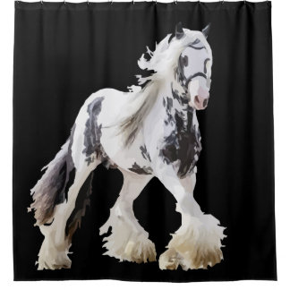 Gypsy Mare Stallion Draft Horse Shower Curtain