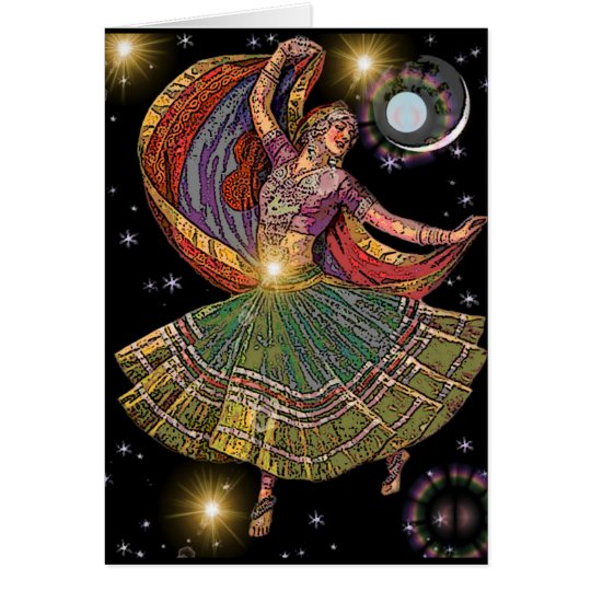Gypsy Moon Dancer Greeting Card