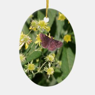 Gypsy Moth Ceramic Oval Decoration