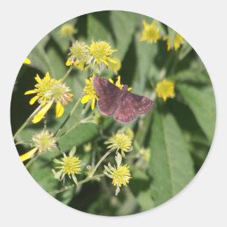 Gypsy Moth Round Sticker