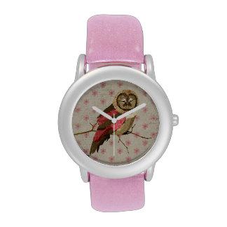 Gypsy Pink Owl Watch