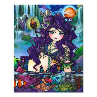 Gypsy Pirate Mermaid Tropical Fantasy Art Print