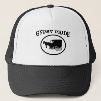 Gypsy Pride Black & White Caravan Trucker Hat