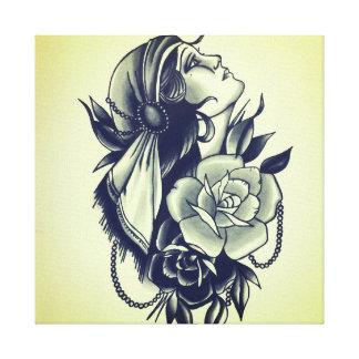 gypsy queen canvas print