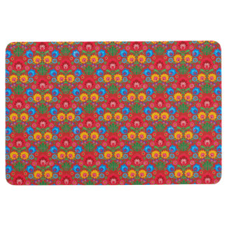 Gypsy Red Floral Floor Mat
