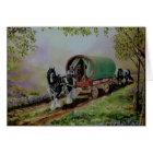 """Gypsy Road"" Vanner horse, Irish caravan Scotland Card"