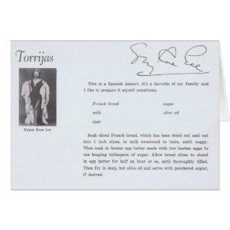 Gypsy Rose Lee Torrijas Spanish Recipe Greeting Card