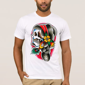 Gypsy Skull with Peacock Feather T-Shirt