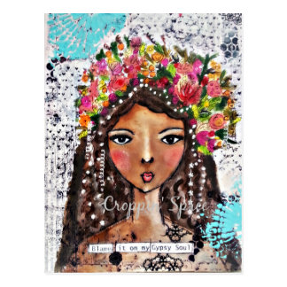 Gypsy Soul by Croppin' Spree Postcard
