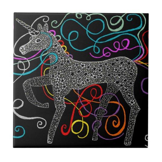 Gypsy the magic unicorn complete small square tile