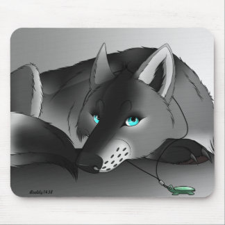Gypsy the Wolf Mouse Mat