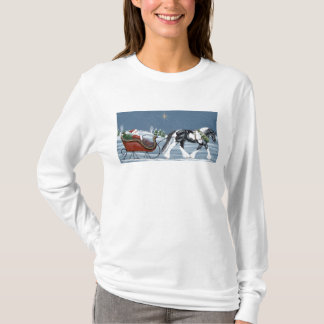 Gypsy Vanner and Santa Claus Christmas Shirt