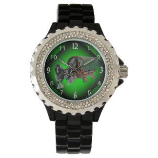 Gypsy Vanner, cob pinto Stallion stud Wristwatch