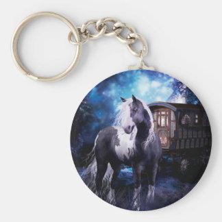 Gypsy Vanner Dreams Basic Round Button Key Ring