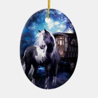 Gypsy Vanner Dreams Ceramic Oval Decoration