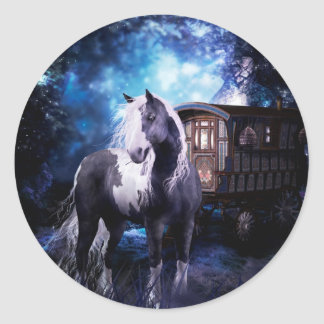 Gypsy Vanner Dreams Classic Round Sticker