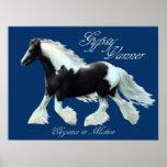 Gypsy Vanner horse , Elegance in motion Poster