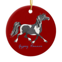 Equestrian with Horse Personalized Christmas Ornament