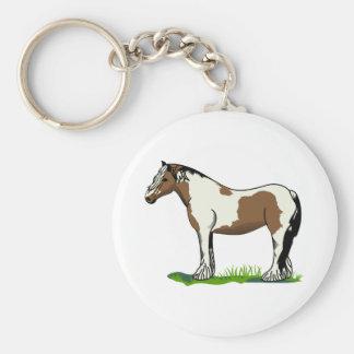 Gypsy Vanner Basic Round Button Key Ring