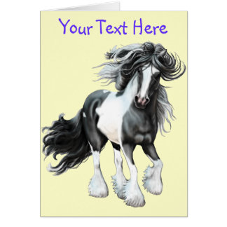 Gypsy Vanner...Prince Card