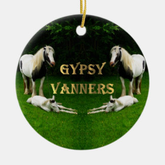 Gypsy Vanners Christmas Ornament