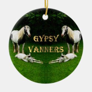 Gypsy Vanners Round Ceramic Decoration
