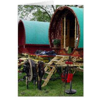gypsy wagons card