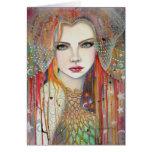 Gypsy Woman Fantasy Art by Molly Harrison Greeting Card
