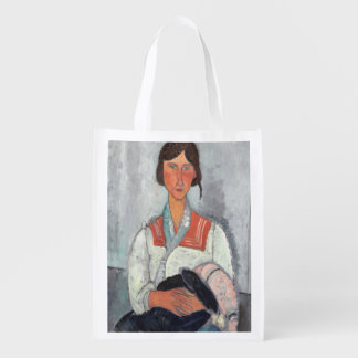 Gypsy Woman with Baby, 1919 (oil on canvas) Grocery Bag