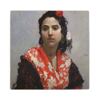 Gypsy Woman Wood Coaster
