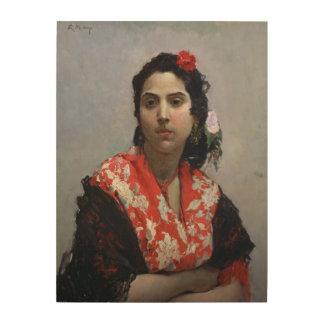 Gypsy Woman Wood Print
