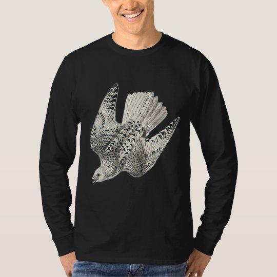 Gyrfalcon Falcon Diving Vintage Art T-Shirt