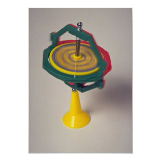 Gyroscope device for measuring orientation 13 cm x 18 cm invitation card