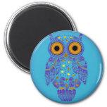 H00t Owl Blues Magnet