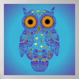 H00t Owl Blues Print