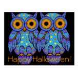 H00t Owl Halloween Postcard
