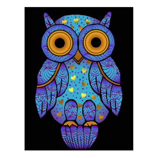 H00t Owl Midnight Madness Postcard