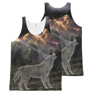 H029 Star Wolf All-Over Print Tank Top