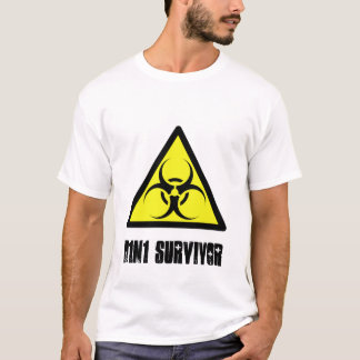 H1N1 Survivor, swine, flu, pandemic, shirt, gift T-Shirt