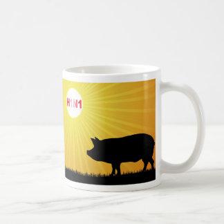H1N1 Swine Flu Pig Sunrise Coffee Mug