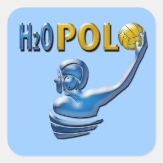 H20 Polo Square Stickers