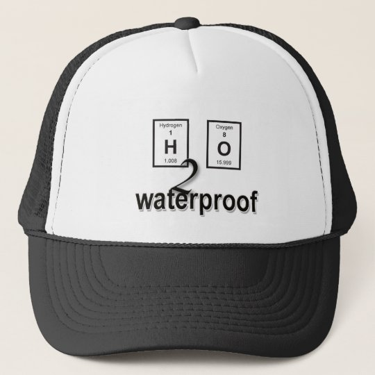 H2O Waterproof Periodical Design Trucker Hat