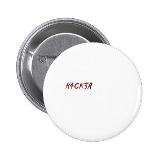 h4ck3r hacker techie geek 6 cm round badge