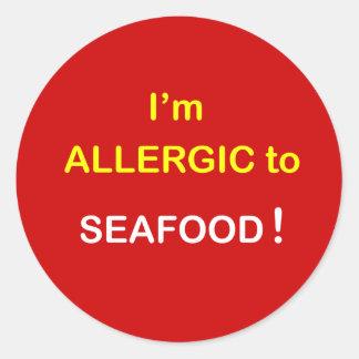 h5 - I'm Allergic - SEAFOOD. Round Sticker