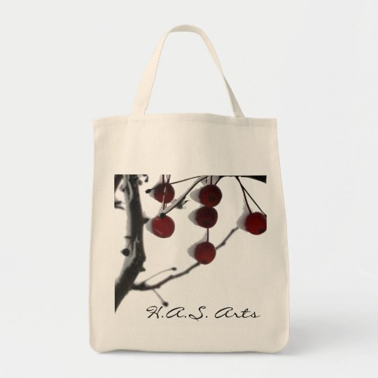 H.A.S. Arts Winter Red Berries Tote Bag