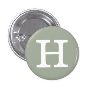 'H' Alphabet Collectible (#8) 3 Cm Round Badge
