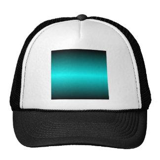 H Bi-Linear Gradient - Black and Cyan Trucker Hat
