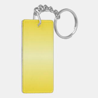 H Bi-Linear Gradient-Dark Yellow and Light Yellow Rectangle Acrylic Key Chain