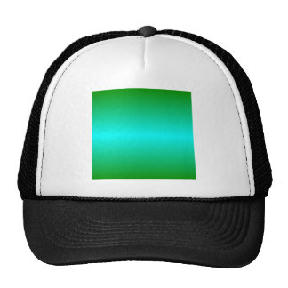 H Bi-Linear Gradient - Green and Cyan Hat