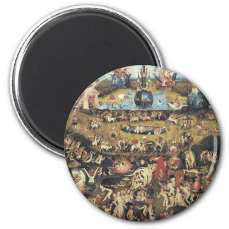 H Bosch Garden of Earthly Delights 6 Cm Round Magnet